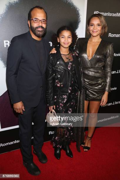 Jeffrey Wright Juno Wright and Carmen Ejogo attend Roman J Israel Esquire New York Premiere on November 20 2017 in New York City