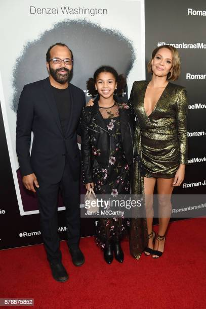 Jeffrey Wright Juno Wright and Carmen Ejogo attend the screening of Roman J Israel Esq at Henry R Luce Auditorium at Brookfield Place on November 20...