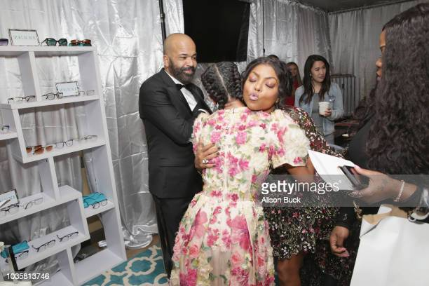 Jeffrey Wright Juno Wright and Taraji P Henson attend Backstage Creations Giving Suite At The 70th Emmy Awards at Microsoft Theater on September 17...