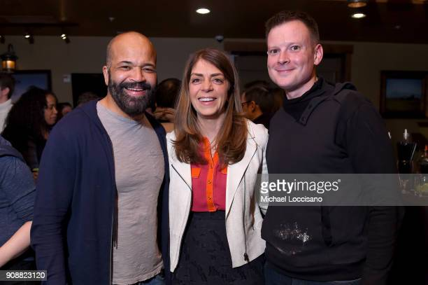 Jeffrey Wright Nancy Abraham and Nate Mook attend 2018 HBO Documentary Films Party At Sundance 2018 during the 2018 Sundance Film Festival at Hotel...