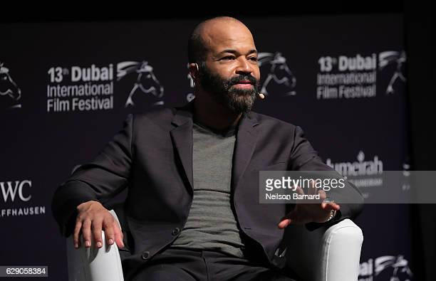 Jeffrey Wright speaks on stgae during the 'In Conversation' on day five of the 13th annual Dubai International Film Festival held at the Madinat...