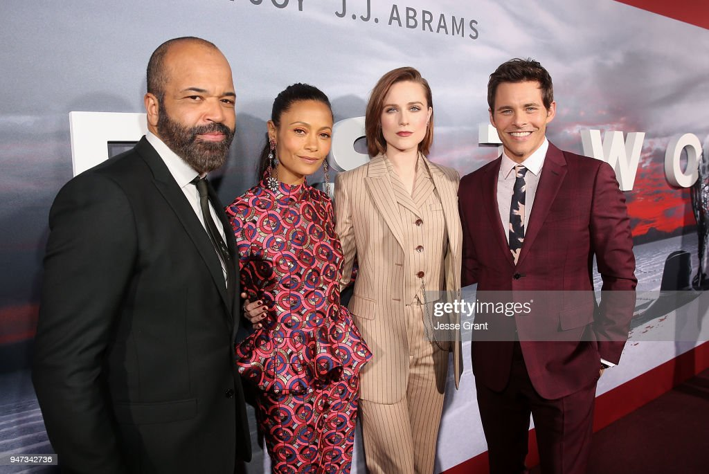 Jeffrey Wright, Thandie Newton, Evan Rachel Wood and James Marsden attend the Premiere of HBO's 'Westworld' Season 2 at The Cinerama Dome on April 16, 2018 in Los Angeles, California.