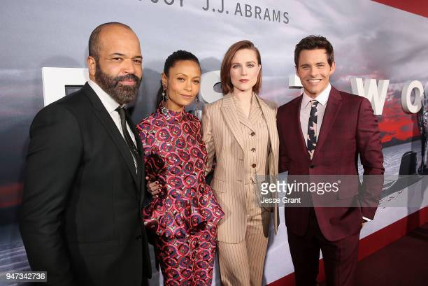 Jeffrey Wright Thandie Newton Evan Rachel Wood and James Marsden attend the Premiere of HBO's Westworld Season 2 at The Cinerama Dome on April 16...