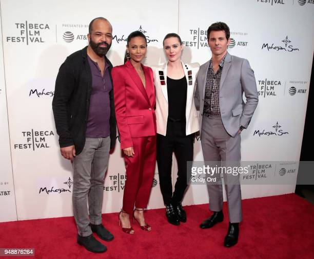Jeffrey Wright Thandie Newton Evan Rachel Wood and James Marsden attend the premiere of 'Westworld' during the 2018 Tribeca Film Festival at BMCC...