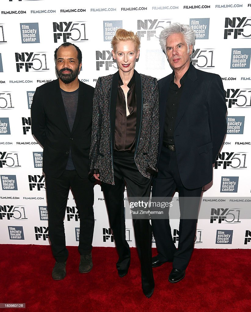 Jeffrey Wright, Tilda Swinton and Jim Jarmusch attend the 'Only Lovers Left Alive' Premiere during the 51st New York Film Festival at Alice Tully Hall at Lincoln Center on October 10, 2013 in New York City.
