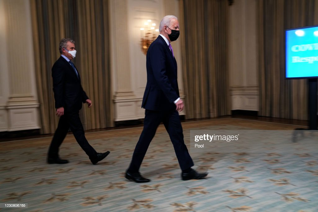 President Biden Discusses His Covid-19 Pandemic Plan At The White House : News Photo