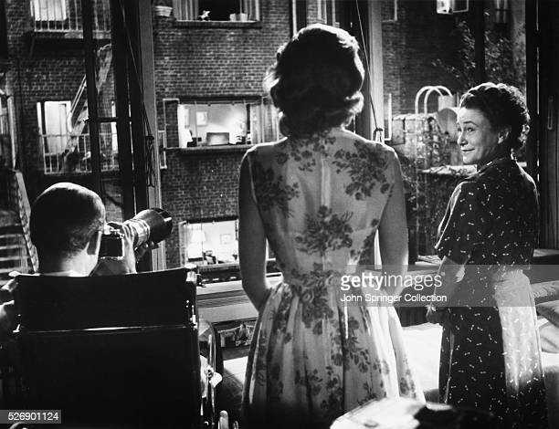 LB Jeffries Lisa Carol Fremont and Stella in a scene from the 1954 Alfred Hitchcock film Rear Window