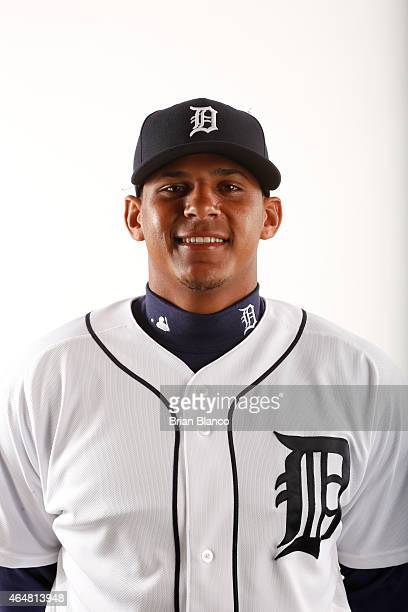Jefry Marte of the Detroit Tigers poses for a photo during the Tigers' photo day on February 28 2015 at Joker Marchant Stadium in Lakeland Florida
