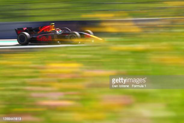 Jehan Daruvala of India and Carlin drives during practice for the Formula 2 Championship at Red Bull Ring on July 10, 2020 in Spielberg, Austria.