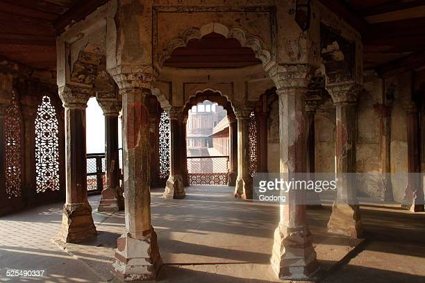 Jehangirs Palace in Agra Fort Agra Uttar Pradesh India