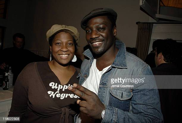 Jehmu Green and Adewale AkinnuoyeAgbaje during 2007 Sundance Film Festival World Cinema Party at The River Horse in Park City Utah United States