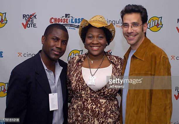 Jehmu Greene and Dave Sirulnik during The 11th Annual Rock the Vote Awards Show and After Party at The Palladium in Hollywood California United States