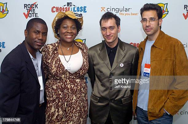 Jehmu Greene Paul Van Dyke and Dave Sirulnik during The 11th Annual Rock the Vote Awards Show and After Party at The Palladium in Hollywood...