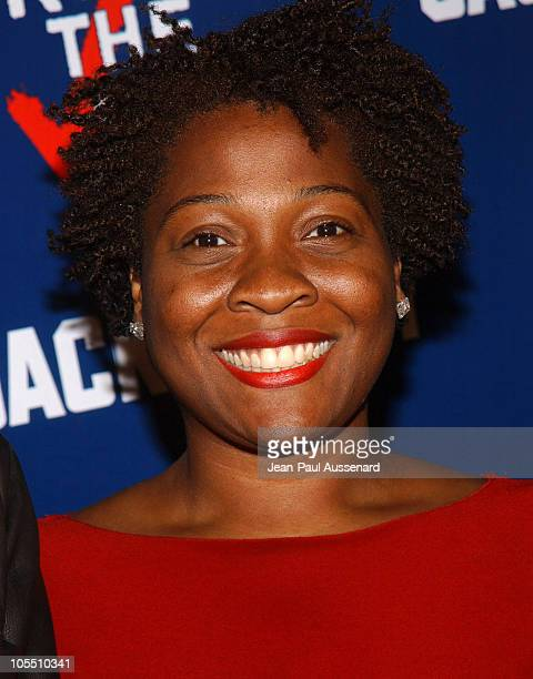 Jehmu Greene president of Rock The Vote during The WB Network's Jack and Bobby Rock the Vote Party Arrivals at Warner Bros Studios in Burbank...