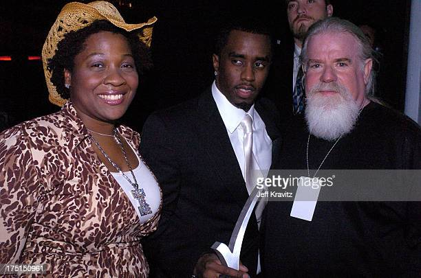 Jehmu Greene President of Rock The Vote Sean P Diddy Combs and Jeff Ayeroff