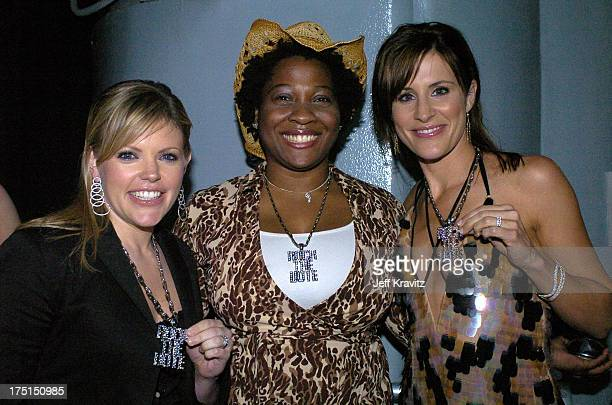 Jehmu Greene president of Rock the Vote with Natalie Maines and Emily Robison of the Dixie Chicks