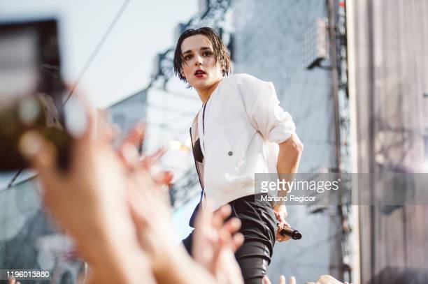 Jehnny Beth from the British band Savages performs in concert during Mad Cool Festival 2017 on July 08, 2017 in Madrid, Spain.