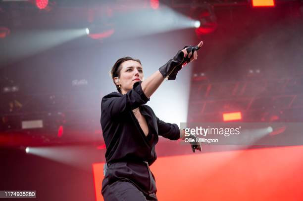 September 15:Jehnny Beth performs on the Main Stage on day 2 of The Legitimate Peaky Blinders Festival 2019 at the Custard Factory on September 15,...