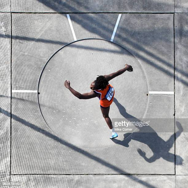 Jeia Gilliam of Virginia State competes in the Women's Discus Throw during the Division II Men's and Women's Outdoor Track and Field Championships...