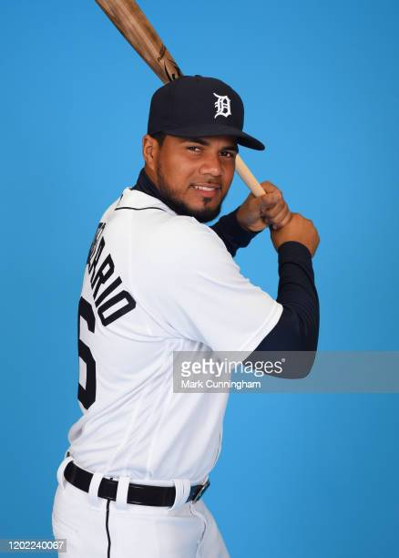 Jeimer Candelario of the Detroit Tigers poses for a photo during Photo Day at the TigerTown Facility on February 20, 2020 in Lakeland, Florida.