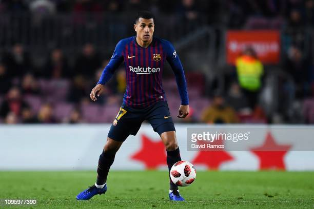 Jeison Murillo of FC Barcelona runs with the ball during the Copa del Rey Round of 16 match between FC Barcelona and Levante at Camp Nou on January...