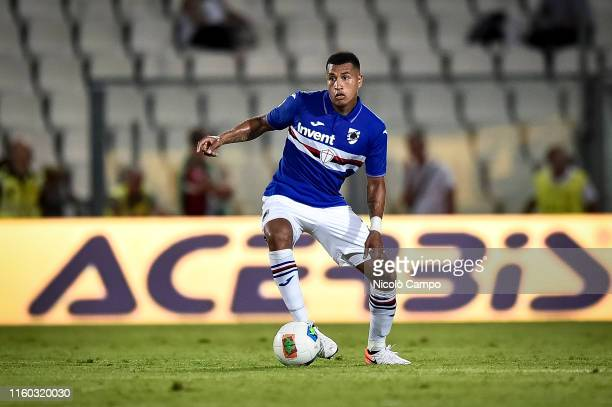 Jeison Murillo of UC Sampdoria in action during the pre-season friendly football match between Spezia Calcio and UC Sampdoria. UC Sampdoria won 5-3...