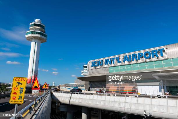 jeju international airport in south korea - jeju island stock pictures, royalty-free photos & images