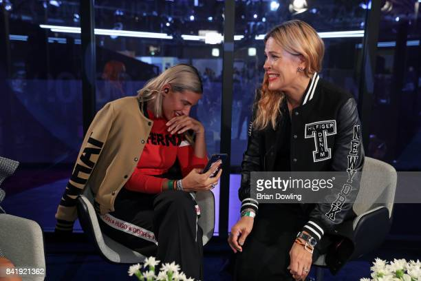 Jekku Berglund and Taru Marjamaa attends the B&&B Box Panel talk during the Bread & Butter by Zalando at arena Berlin on September 2, 2017 in Berlin,...