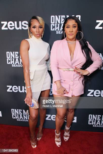 """Jelaminah and Natalie Nunn attend Zeus Network's """"One Mo Chance"""" Season 2 Premiere at AMC Universal at City Walk on September 19, 2021 in Universal..."""