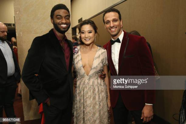 Jelani Alladin Ashley Park and Ari'el Stachel attend the 33rd Annual Lucille Lortel Awards on May 6 2018 in New York City
