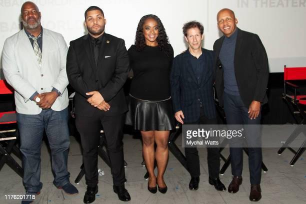 "Jelani Com, O'Shea Jackson jr, Karan Kendrick, Tim Blake Nelson and Bryan Stevenson attend Q & A following the premiere of ""Just Mercy"" on day three..."
