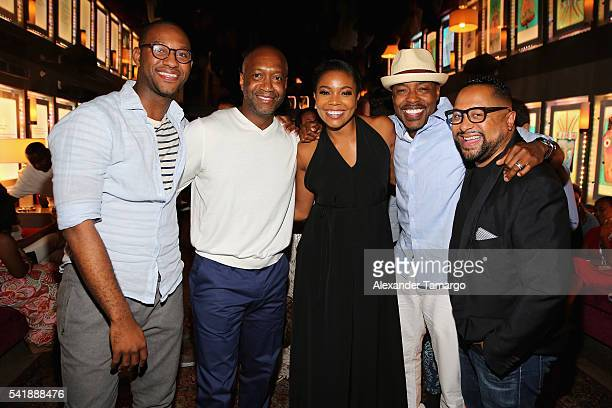 Jelani Johnson Jeff Friday Gabrielle Union Will Packer and Cameron Mitchell attend the CAA Reception in Celebration of ABFF with Will Packer at The...