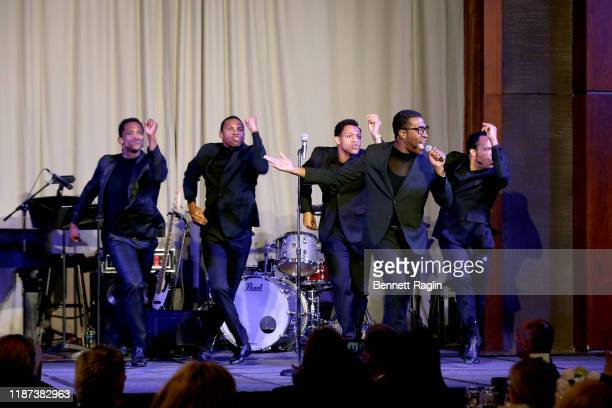 Jelani Remy Shawn Bowers Derrick Baskin James Harkness Front row Elijah Ahmad Lewis perform onstage during The Red Carpet Hospitality Gala Hosted by...