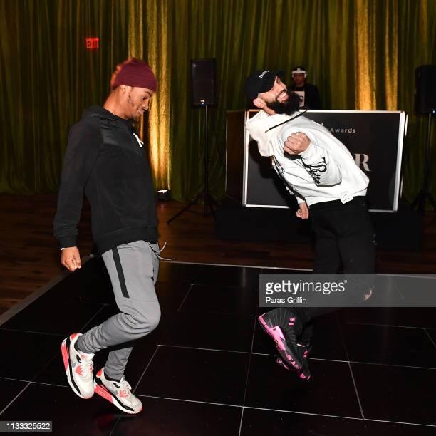Jelani Winston and DanRue preform during 2018 BET Social Awards Dinner at TWELVE Atlantic Station on March 02 2019 in Atlanta Georgia