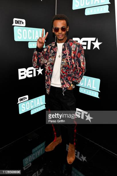 Jelani Winston attends the 2019 BET Social Awards at Tyler Perry Studio on March 3 2019 in Atlanta Georgia