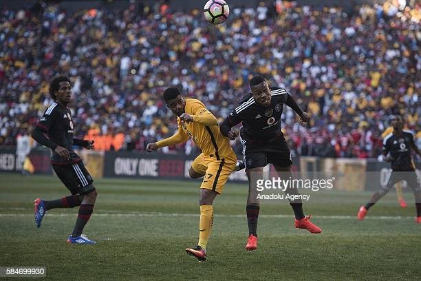 Jele Happy of Orlando Pirates in action against Lebese George Kaizer Chiefs FC during 2016 Carling Black Label Cup between Kaizer Chiefs FC and...