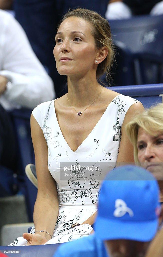 Jelena Djokovic attends the men's final between Novak Djokovic of Serbia and Stanislas Wawrinka of Switzerland at Arthur Ashe Stadium on day 14 of the 2016 US Open at USTA Billie Jean King National Tennis Center on September 11, 2016 in New York City.
