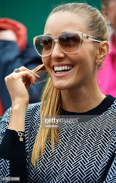 Jelena Djokovic wife of Novak Djokovic attends day eight of the Monte Carlo Rolex Masters tennis at the MonteCarlo Sporting Club on April 19 2015 in...