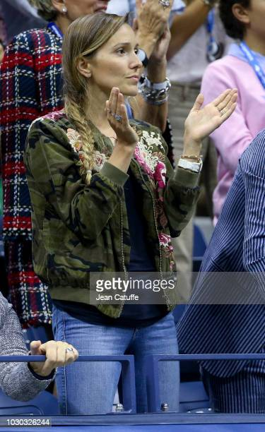 Jelena Djokovic wife of Novak Djokovic of Serbia attends the men's final on day 14 of the 2018 tennis US Open on Arthur Ashe stadium at the USTA...