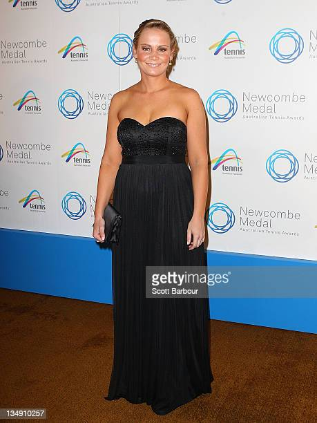 Jelena Dokic arrives at the 2011 Newcombe Medal at Crown Palladium on December 5, 2011 in Melbourne, Australia.