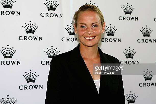 Jelena Dokic of Australia arrives at the 2012 Australian open Players Party at Crown Towers on January 15, 2012 in Melbourne, Australia.