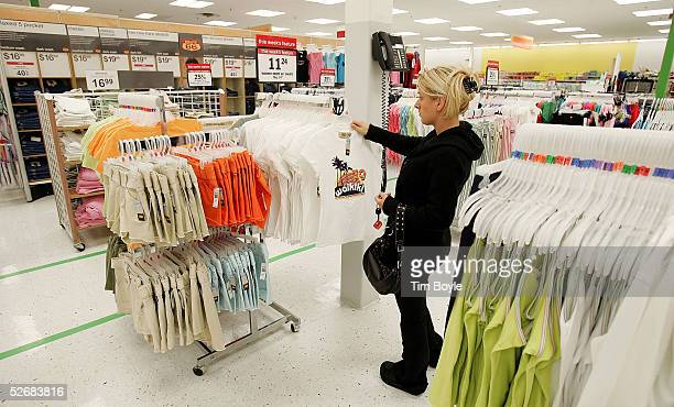 Jelena Graovac shops for women's clothing in a newly revamped Kmart store April 22 2005 in Norridge Illinois The store is one of nine test stores...