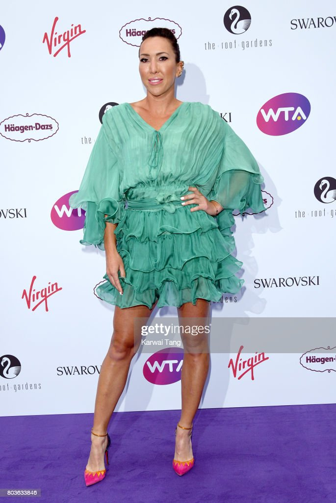 Jelena Jankovic attends the WTA Pre-Wimbledon party at Kensington Roof Gardens on June 29, 2017 in London, England.