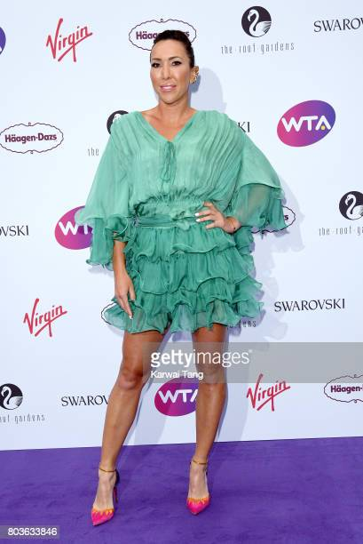 Jelena Jankovic attends the WTA PreWimbledon party at Kensington Roof Gardens on June 29 2017 in London England