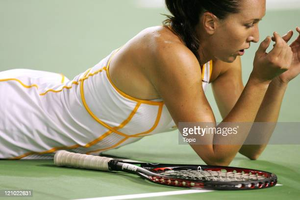 Jelena Jankovic during her fourth round match against Serena Williams during the Australian Open in Melbourne, Australia on January 21, 2007