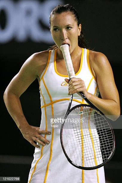 Jelena Jankovic during her fourth round match against Serena Williams during the Australian Open in Melbourne Australia on January 21 2007