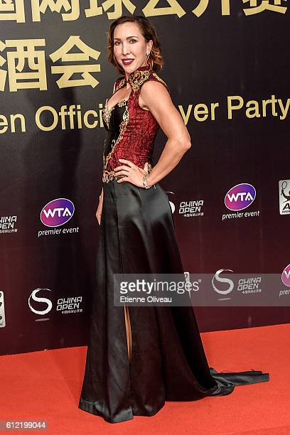 Jelena Jankovic of Serbia arrives at the 2016 China Open Player Party at The Birds Nest on October 3 2016 in Beijing China