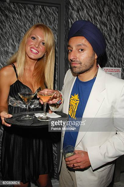 Jelena Mandic and Vikram Chatwal attend GONZO post screening party at Night Hotel N.Y.C. On June 25, 2008 in New York City.