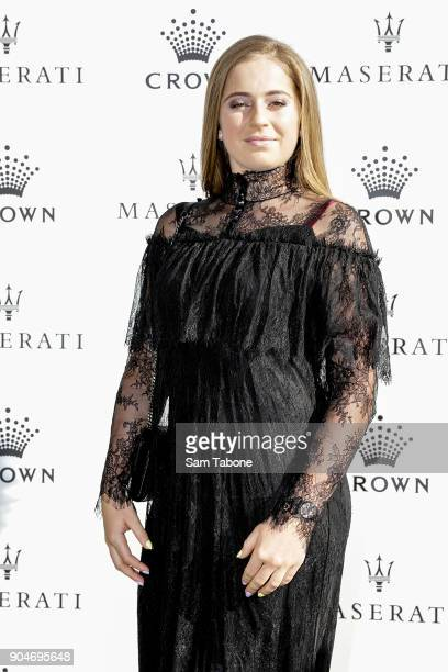 Jelena Ostapenko arrives ahead of the 2018 Crown IMG Tennis Player at Crown Palladium on January 14 2018 in Melbourne Australia