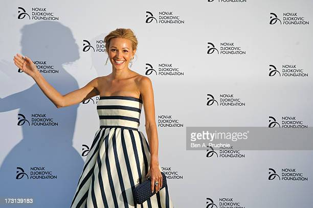 Jelena Ristic attends the Novak Djokovic Foundation London gala dinner at The Roundhouse on July 8 2013 in London England